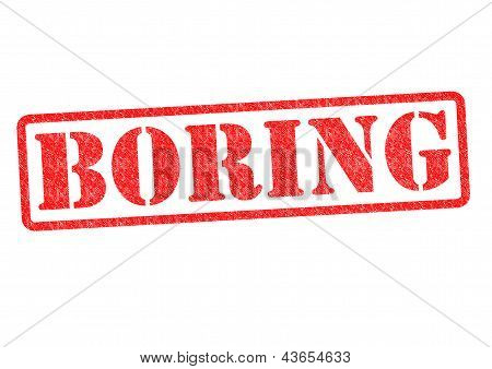 Boring Rubber Stamp