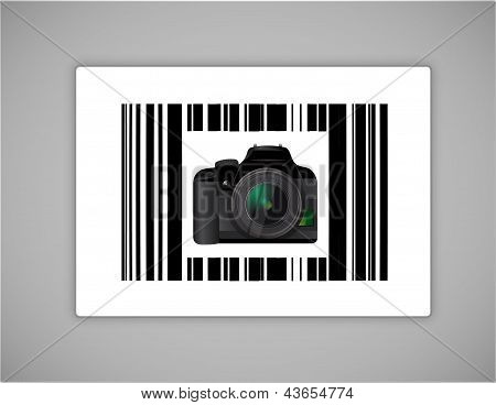 Camera Bar Ups Code Illustration Design