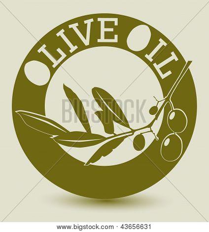 Etiqueta de oliva