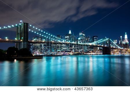 Brooklyn Bridge and Manhattan, New York