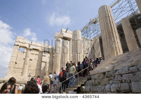 Acropolis With People