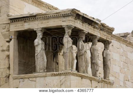 Acropolis Erechteion And Caryatids