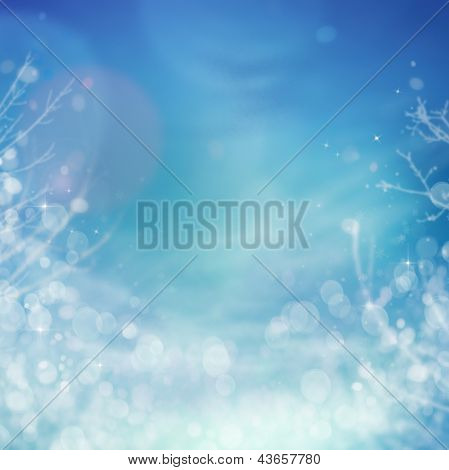 Winter Frozen Background