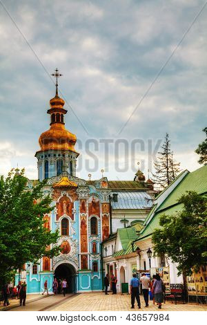 Bell Tower At Kiev Pechersk Lavra Monastery In Kiev, Ukraine