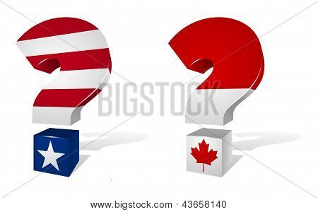 USA and Canada Question Marks