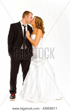 Bride And Groom In Studio