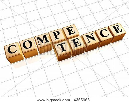 Competence In Golden Cubes
