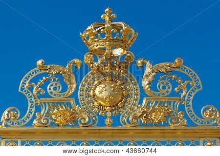 Crown In Versailles, Yvelines, Ile De France, France