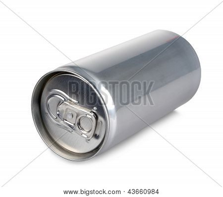 Aluminum Can Of 200 Ml Prosecco, Isolated And Blank