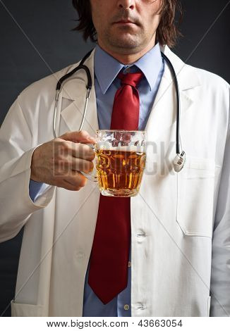 Doctor Is Drinking Beer