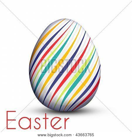 Huevo de Pascua pintado con líneas de Color