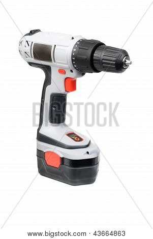 Battery Screwdriver  Isolated On White Background