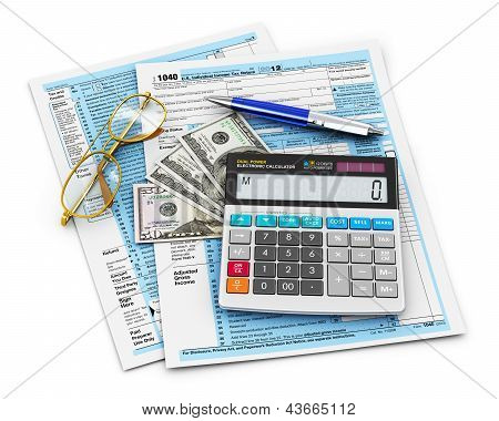 Filling of 1040 US tax form