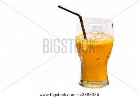 Iced Coffee With Straw