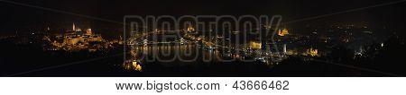 Vista panorâmica de Budapeste da colina Gellert, Hungria.