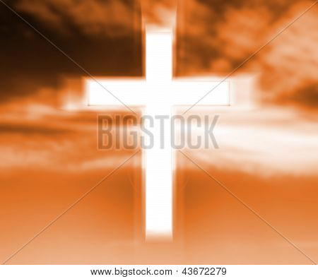 Holy Cross Gold Background