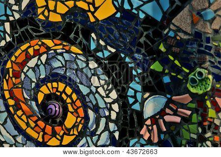 Mosaic Pattern On Wall