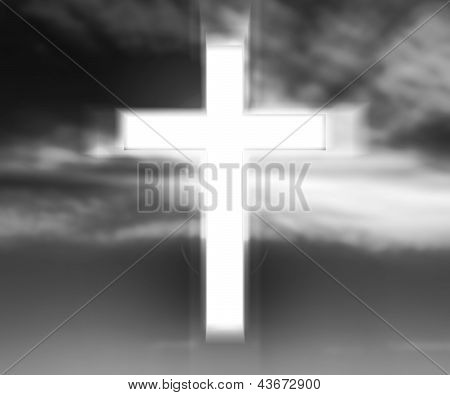 Holy Cross Gray Background