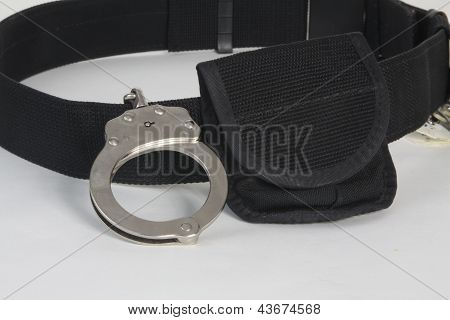 Handcuffs-Metal on Utility Belt