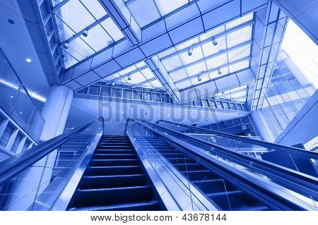 Escalator In Modern Business Center