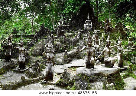 Amphitheater Of Angels Statue In Buddha Magic Garden Or Secret Buddha Garden