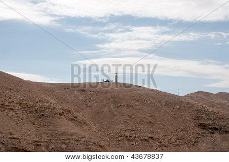 Cross In Judean Desert