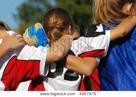 Voetbal Team Huddle