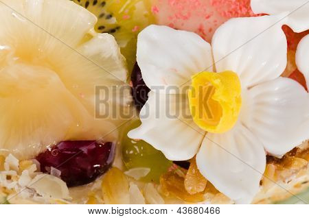Beautiful Cake With Fruit, Close-up