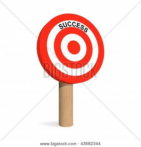 Success Target Board. Vector Illustration