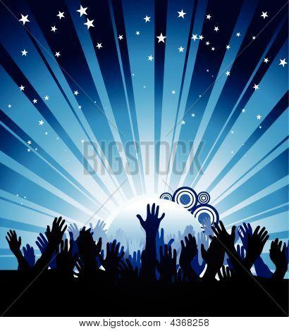 Cartaz de festa azul