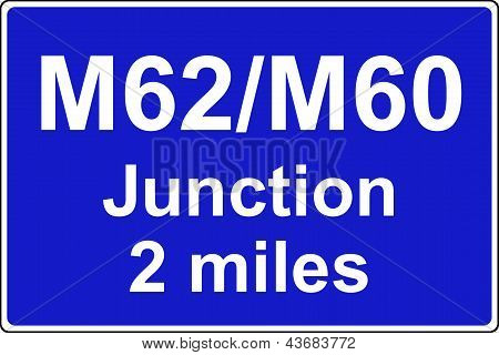 Juction ahead is with another motorway sign