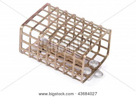 Feeder For Fishing In Weight Forty Gramme (clipping Path)