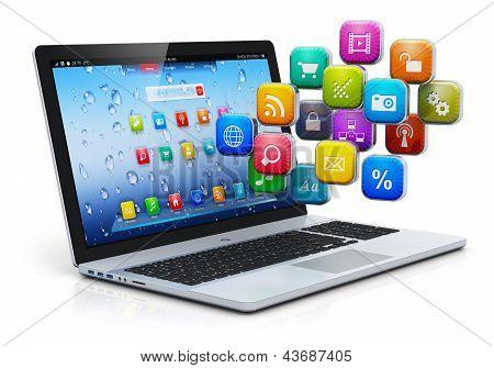 Movilidad de la computadora y el concepto de cloud computing