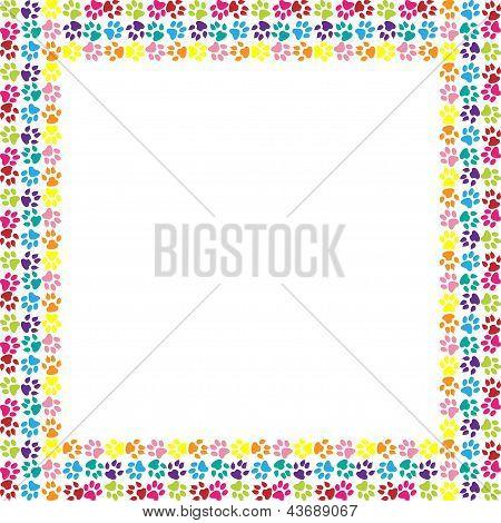 Paw print frame