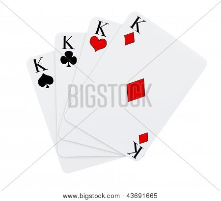 Four Kings Cards Suits