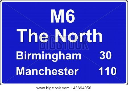 Route confirmation motorway sign