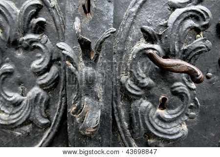 Old door with handle