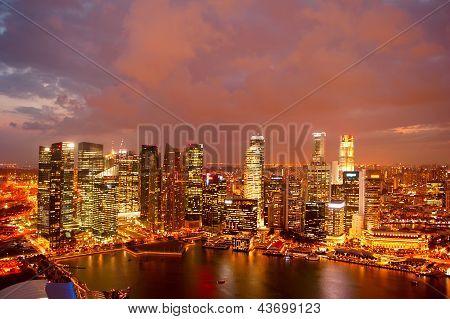 Singapore At Dusk