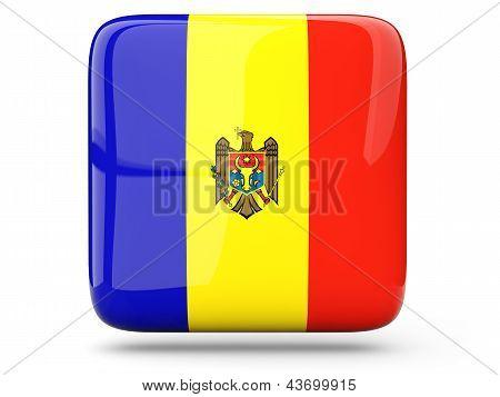 Square Icon Of Moldova