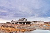 foto of chukotka  - Abandoned buildings in Anadyr town - JPG