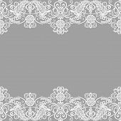 foto of lace  - Wedding invitation or greeting card with lace border - JPG