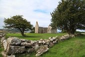 stock photo of anglesey  - Capel Lligwy (sometimes referred to as Hen Capel Lligwy) is a ruined chapel near Rhos Lligwy in Anglesey, north