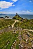 pic of anglesey  - Ynys Llanddwyn or Llanddwyn Island is a small tidal island off the west coast of Anglesey - JPG