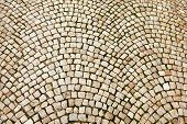 Cobblestone Pattern On Czech Street