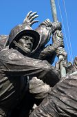 stock photo of iwo  - Detail of Iwo Jima Memorial Statue near Washington DC - JPG