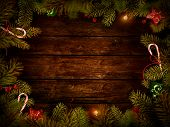 image of wood design  - Christmas design  - JPG