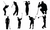 foto of siluet  - Golf vectors from my sports vectors collection - JPG