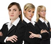 picture of people work  - three serious business woman close up shoot - JPG