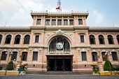 stock photo of old post office  - Saigon Central Post Office is a post office in the downtown Ho Chi Minh City - JPG