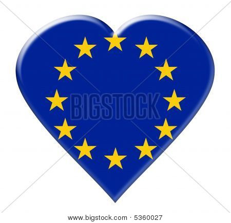 Icon Of Flag Or European Union